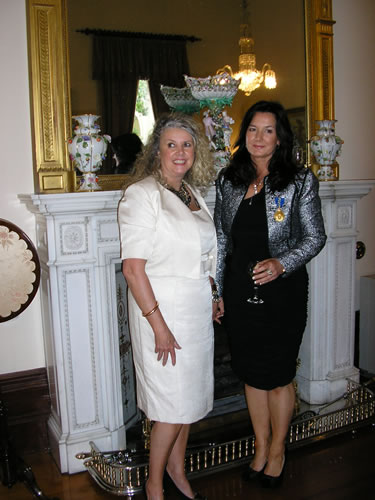 Professor Taylor with Gerrie Carr-MacFie, CEO of Kids Foundation and long term supporter of Children of Phoenix.
