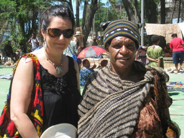 Professor Taylor with a tribal woman from the highlands region.