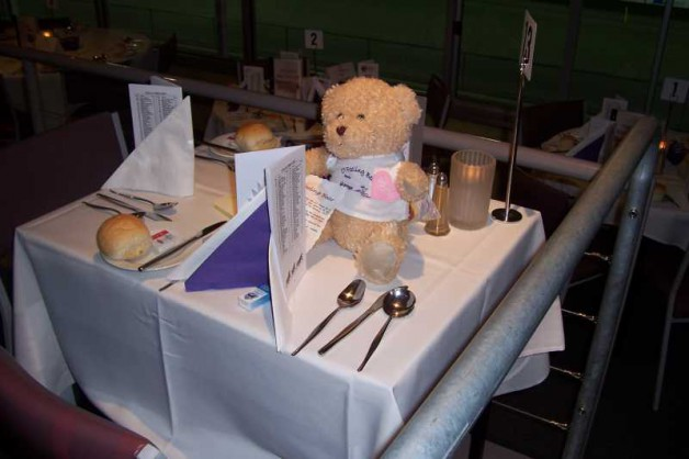CT Bear was a 'guest' on every table!