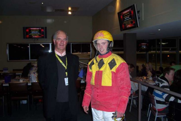 Daniel Torpy, Board member and race sponsor with winning driver of his sponsored race.