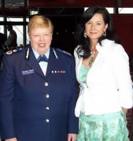 Official Launch 2008 at the Eureka Towers in Melbourne.  Christine Nixon, APM, then Chief Commissioner of Victoria Police pictured with Professor Taylor after the official media announcement.