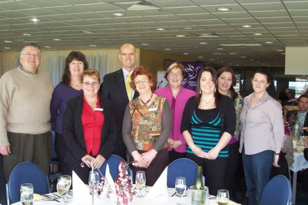Simon Overland Victoria Police with guests at the luncheon.