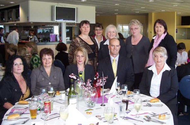 Simon Overland Victoria Police with ladies at the luncheon.